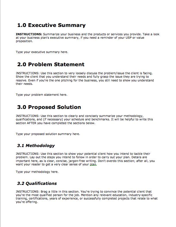 business service proposal template   trattorialeondoro