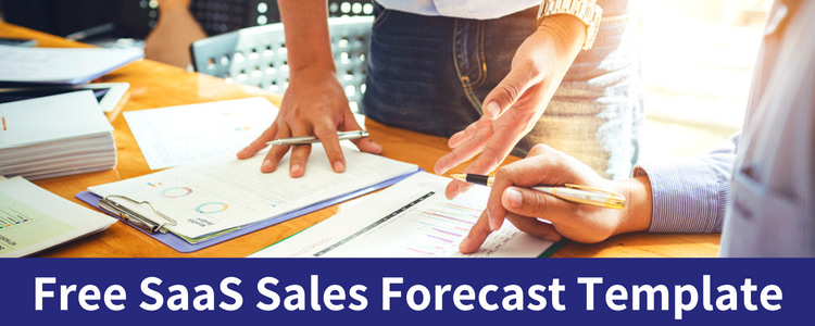 subscription sales saas forecast template